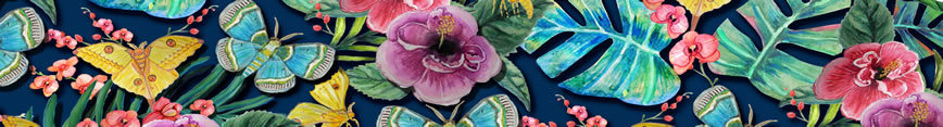 Dark_floral_hibiscus_orchids_tropical_moths_navy_fabric_and_wallpaper_at_spoonflower_preview